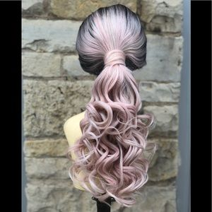 Accessories - Ponytail Wig Ponytail Lacefront Wig long curly Wig